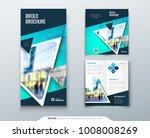 bifold brochure design. teal... | Shutterstock .eps vector #1008008269
