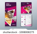 bifold brochure design. pink ... | Shutterstock .eps vector #1008008275