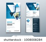 bifold brochure design. blue... | Shutterstock .eps vector #1008008284