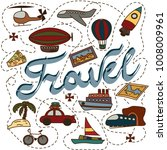 a world full of adventures.... | Shutterstock .eps vector #1008009961