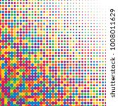 colorful halftone dots. rainbow ... | Shutterstock .eps vector #1008011629