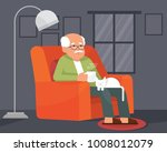 a lonely grandpa grandfather or ... | Shutterstock .eps vector #1008012079