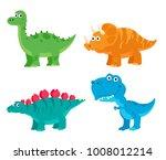 cute dinosaurs diplodocus ... | Shutterstock .eps vector #1008012214