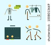 icons set about human with... | Shutterstock .eps vector #1008013669