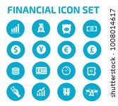 financial icon set | Shutterstock .eps vector #1008014617