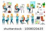 business woman character set.... | Shutterstock . vector #1008020635