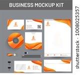 branding mockup set  corporate... | Shutterstock .eps vector #1008025357
