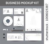 branding mockup set  corporate...   Shutterstock .eps vector #1008025387