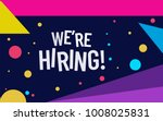 Stock vector we are hiring poster or banner design job vacancy advertisement concept 1008025831