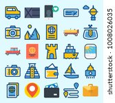 icons set about travel with... | Shutterstock .eps vector #1008026035