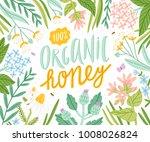 organic honey  packaging vector ... | Shutterstock .eps vector #1008026824