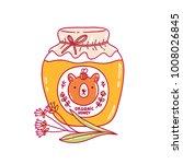 organic honey jar vector... | Shutterstock .eps vector #1008026845