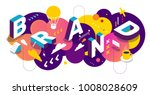 isometric abstract branding... | Shutterstock .eps vector #1008028609