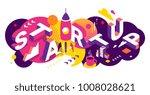 vector creative abstract... | Shutterstock .eps vector #1008028621