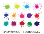 set of colorful stains ... | Shutterstock .eps vector #1008030667