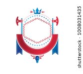 graphic emblem made with royal...   Shutterstock .eps vector #1008031435