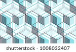 geometric cubes abstract... | Shutterstock .eps vector #1008032407