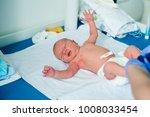 newborn baby. little child in... | Shutterstock . vector #1008033454