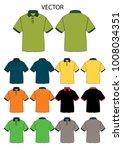 t shirt polo vector | Shutterstock .eps vector #1008034351