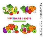 cartoon funny vegetable... | Shutterstock .eps vector #1008036115