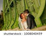 happy bride and groom   Shutterstock . vector #1008040459