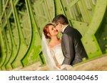 happy bride and groom   Shutterstock . vector #1008040465