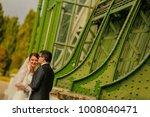 happy bride and groom   Shutterstock . vector #1008040471