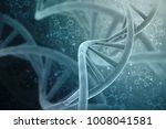 3d render of dna structure ... | Shutterstock . vector #1008041581
