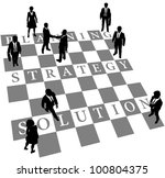 business people as human chess... | Shutterstock .eps vector #100804375