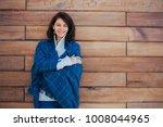 beautiful caucasian smiling...   Shutterstock . vector #1008044965