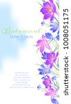 floral banner with violet and... | Shutterstock .eps vector #1008051175