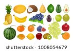isolated fruits set on white... | Shutterstock . vector #1008054679