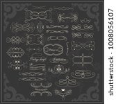 set of vintage elements on a... | Shutterstock .eps vector #1008056107