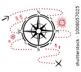 compass with hiking map. design ...   Shutterstock .eps vector #1008057025