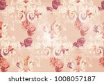 Vintage Rose Flowers And...