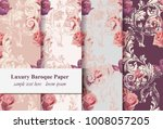 vintage rose flowers and... | Shutterstock .eps vector #1008057205