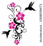 hummingbird  colibri with...   Shutterstock .eps vector #1008058471