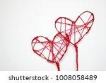 valentine's day handmade red... | Shutterstock . vector #1008058489