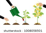 growing money tree. stages of... | Shutterstock .eps vector #1008058501