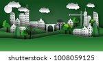 illustration of a paper city... | Shutterstock .eps vector #1008059125