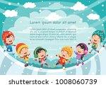 vector illustration of winter... | Shutterstock .eps vector #1008060739