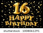 16th birthday celebration with...   Shutterstock .eps vector #1008061291