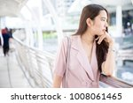 young asian business owner...   Shutterstock . vector #1008061465