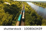 freight train with cisterns and ... | Shutterstock . vector #1008063439