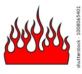 flames vector icon isolated on... | Shutterstock .eps vector #1008065401