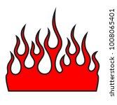 flame tattoo tribal vector... | Shutterstock .eps vector #1008065401
