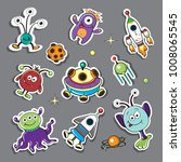 patch badges space and space... | Shutterstock .eps vector #1008065545