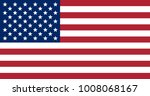 the us flag with the correct... | Shutterstock . vector #1008068167