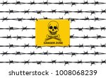 stop sign danger zone on the...   Shutterstock . vector #1008068239