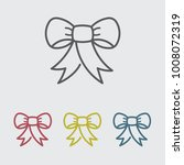 ribbon line icon | Shutterstock .eps vector #1008072319